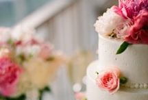 "Weddings | Wedding Cake / ""Bride: A woman with a fine prospect of happiness behind her."" - Ambrose Bierce"