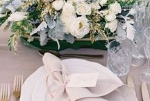"Weddings | Table Setting / ""Bride: A woman with a fine prospect of happiness behind her."" - Ambrose Bierce"