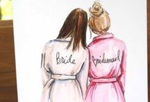 "Weddings | Bridesmaid / ""Bride: A woman with a fine prospect of happiness behind her."" - Ambrose Bierce"