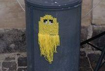 Yarn Bombing / Yarn Bombing - Yarn Grafitti - Strikke Grafitti - Guerilla Knitting - Yarn Storming - Garn grafitti - Ullargraf - Gerillastickning