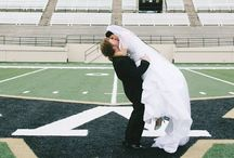 VU, I Do! / Vanderbilt fans get creative when it comes to their weddings - we're honored to be a part of their big day! #wedding #blackandgold