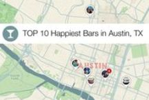 Top 10 Happiest Bars in Austin / Top 10 Happiest Bars in Austin, Texas. Jetpac has counted and measured smiles in photos shared from all bars in Austin to find out where people are having the most fun! #SXSW #Texas / by Jetpac City Guides
