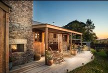 Tiny house and landscape designs / small houses, accommodation.