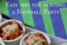 Football Party / Football Party Recipes and Decorations! Everything from Crock Pot Recipes to Football party Appetizers and more!