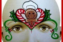 Weihnachts Schmink / Christmas Face Painting / Ideen für die Malerei bilden auf Gesichter..