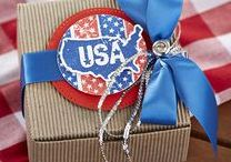 holidays/seasons: summer and fourth of july / party ideas, crafts, decorating inspiration, DIY projects all perfect for the summer months | patriotic craft and party ideas for fourth of july | Father's Day cards and gift ideas