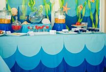 Party: Sharks and Fishies / Fifth birthday party theme - sharks and fishies - party favors, decorations, food and games for an underwater theme birthday party with under the sea inspiration