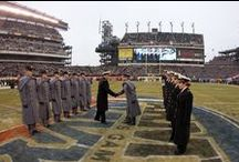 Army-Navy Game / A long standing tradition between these two service academies to earn the Commander's Cup. Even if they lose to the rest of the collegiate teams, a win against their rival service academy is still considered a winning season.