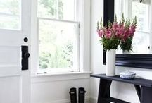 Entry Way Design / Nothing says welcome to your home like a beautifully designed entry way. Benches and gallery walls make the whole house feel like home! / by Preparing for Peanuts