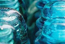 Antique Glass insulators crafts