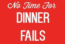 No Time For Dinner Fails: Fast, Easy Food for Busy Moms / Do you get to 5:00 p.m. and realize you don't have dinner planned yet? Are you sick of eating out? This collaborative board is for you and any other busy mom who's short on time. We are pinning EASY, FAST and GOOD dishes! Rules: **ONLY pin what you've actually made and tried.** No time for  dinner fails! Email me at kludgymom at gmail dot com to join the board and pin.