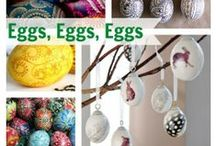 DECORATED EGGS ( for all occasions) / painted, embroidered and dyed  / by Elizabeth Jones