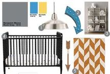 Preparing a Yellow & Gray Baby Boy Nursery / I created my second son's nursery using inspirations from gray and yellow nurseries. Adding a little geometric artwork, the finished product is a beautiful baby boy nursery we love. See my inspirations on this board!