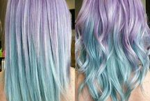Hairstyles/ colors / Mostly purple and blue-ish hair
