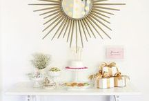 Dessert Tables / Dessert tables are a great focal point at a party. Make it gorgeous with this inspiration.