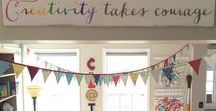 my {CREATION STATION} / I am designing a space for crafting!  I am so excited to use this space as my special, creative zone during football and basketball season...and it will make a create getaway for me and my children to work on crafts together!!!