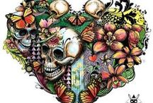 for the ♥ of skulls / art / by Leafy Riggs