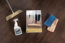 Tips for Tidy Floors / Clean floors are always in style. Luckily, laminate floors are designed to be super easy to clean. Here are the best tips from our experts on how to keep your floors tidy.