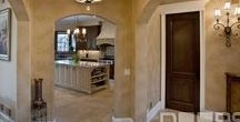 "Custom Interior Doors / SOLID WOOD: Our custom interior wood doors are crafted from wood ONLY. The most popular wood options include Mahogany, Cherry, Knotty Alder, Walnut, Ash, Oak or any other wood species of your choice. Each wood slab is 1-3/4"" thick, is pre-finished with a furniture quality wood finish, and comes with a knock down jamb, and 4"" x 4"" square corners hinges."
