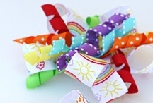 Somewhere over the rainBOW (bows) / Ideas for hair bows, bow holders, flip flops, frames...anything looks cuter with a bow on it. Check out my bow biz at www.facebook.com/KailynsUniqueBowtique  / by Jenna Bouza Salinas
