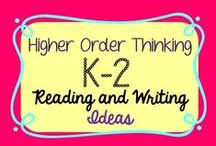 K-2- Reading+Writing Higher Order Thinking Ideas / This board shares activities designed to take students to the next level in reading and writing. The activities shared here engage students in higher order thinking. Collaborators share 3 free or idea pins for each paid product. Label paid products with $$ :)