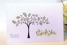 Thank You/Thanks / Cards mad to express thanks or as a thank you. All products Stampin' Up!.