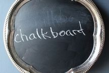 HOME - chalkboards / OMG I love chalkboards and seeing what people have turned into chalkboards.