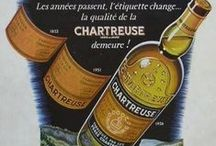 Chartreuse / Romancing and Dating labels for dusty bottles of this, the most amazing herb liqueur.