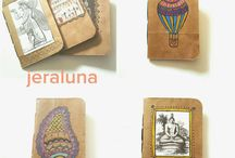 Bookbinding / Handmade notebook ideas. How to and diy. Recycled handmade notebooks. Bookbinding.