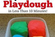 DIY / recipes, play dough, salt dough, instruments, crafts, paint