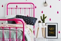 Kids Room Style / Lovely kids bedroom inspiration. I love a white base with Pops of Colour and must have some handmade Quilts, Softies & Art.