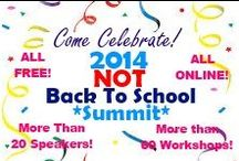 2014 NOT Back to School Summit / Come see 27 speakers, more than 60 workshops!  All FREE, all completely ONLINE!  Fabulous help for homeschoolers.  Register for the summit, then login at the site to see our newest pinterest contest!  Be sure to use hashtags #notbacktoschool or #nbts @hecoa so we can track your pins!