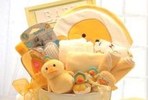 Gift Baskets & Wagons! / An array of gift baskets, wagons, and personalized gift set sure to please the new parents! ALWAYS FREE SHIPPING!! www.simplyuniquebabygifts.com