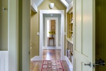 Enfilade - sight lines, room to room / Some of the best fun you can have with paint and color!
