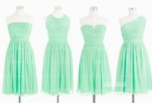 Wedding:Bridesmaids dress ideas / Choose any of these, wedding colors are navy blue, teal, aqua, mint. Comment one the ones you like, pick at least 3, back up option / by Olivia cupcake Johnson