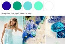 Wedding:Color ideas / Navy blue. Teal. Aqua. Mint. White / by Olivia cupcake Johnson