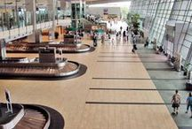 Airports & stations / We realize modern flooring and surface coverings for airports and lobbies resistant to wear and foot traffic. Check out Caesar technical porcelain stoneware tiles.
