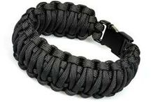 Paracord Survival Bracelets / Our paracord survival bracelets contain several feet of paracord which can be quickly accessed should you find yourself in a survival situation.