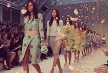 Fashion Week / Fashion week, catwalk shows, models, designers, clothing, accessories, jewellery. New York, Milan, London, and Paris.