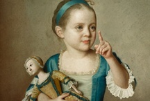 Girls and dolls - 18th Century