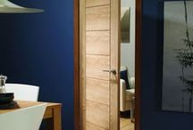 Internal Flush Oak Doors / Oak doors with grooves and panel effects but considered flush.
