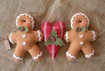 Christmas - Felt Gingerbreadmen