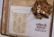 """Need Help . . .. Send COFFEE!!! / Yep . . I'm a """"coffee-holic"""" . .. love it, drink tons of it, can't get enough! And that spills right over into my creativity, too . .. sooo much fun to participate in the """"Coffee Loving Cardmakers"""" blog hops! So  .. . with or without cream???"""