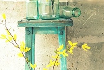yellow and aqua / by Courtney Carroll