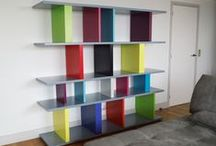 Modulable Bookshelves / Tu-Lis-Pied, this totally modulable and custom made bookshelf will suit to all the spaces, areas and atmospheres. See all sizes and colors on our website.