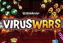 Game Zone / Virus Wars : Placez stratégiquement vos tours de défense pour empêcher les virus d'attaquer votre système !