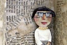 Book Art / Sometimes a book's not just for reading! Beautiful art created with books and other glorious book related work.