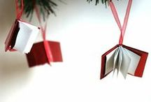 """Festive words / """"Do give books religious or otherwise for Christmas. They're never fattening, seldom sinful and permanently personal."""" Lenore Hershey / by Waterstones"""