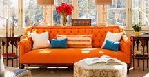 Sofás naranja · Orange sofas