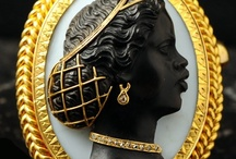 """Blackamoor Art, African, Dark, Black, Beautiful  / Cameos Blackamoor Art. Blackamoor Jewelry were statement pieces of Abolitionism, saying that """"Black is Beautiful"""" or just another piece of jewelry just like their white cameos counterpart. / by Janelle Gaines"""